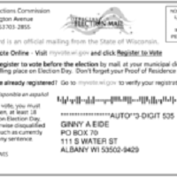 Unregistered Voters to Get Special Postcard Reminders in June