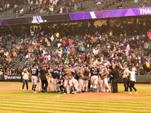 Brewers Celebrate Again After Capturing NLDS Against the Rockies