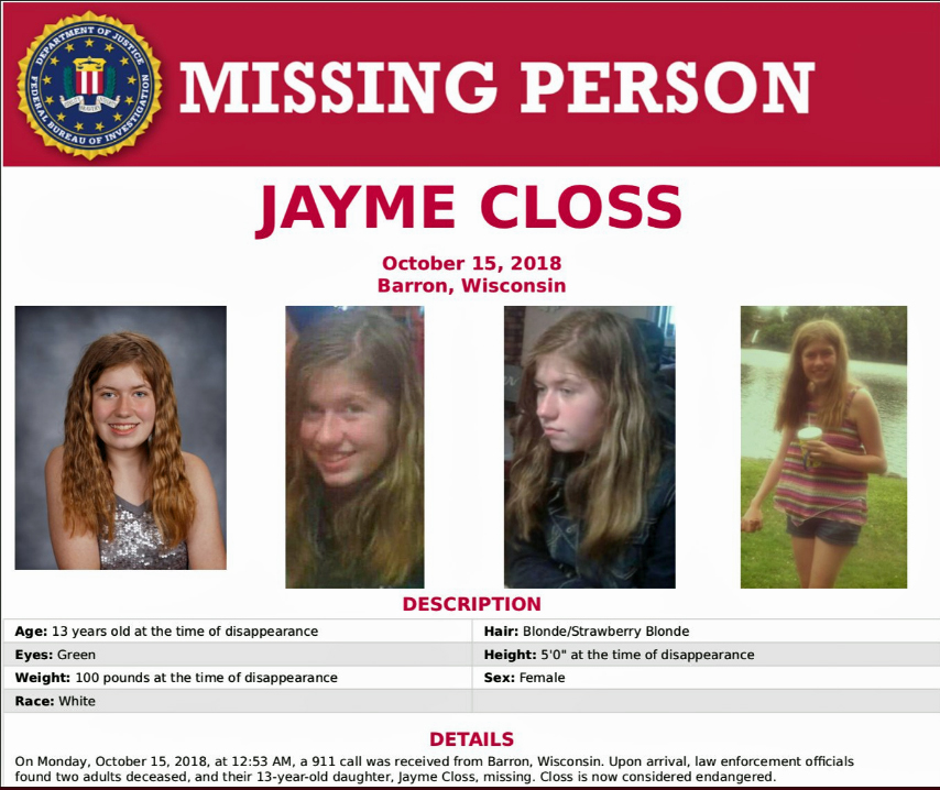 Sheriff Requests 2,000 Volunteers for Search in Jayme Closs Disappearance