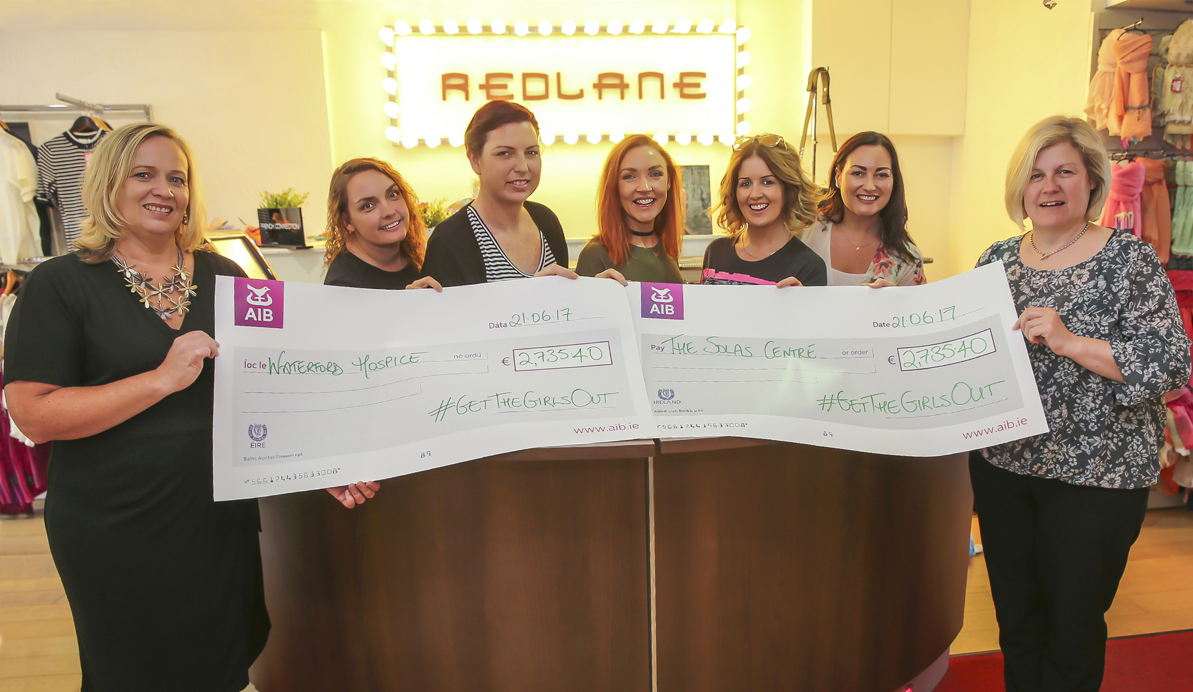 'Get The Girls Out' raises over €5,000 for Waterford Hospice and The Solas Cancer Support Centre