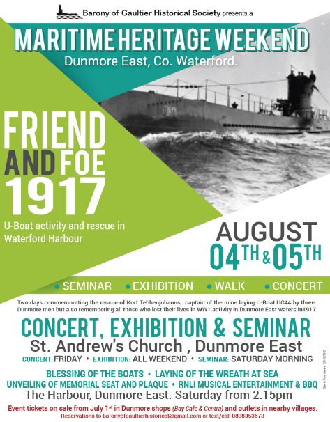 Maritime Weekend takes place in Dunmore East over the coming days