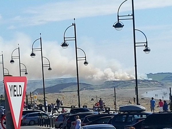 Large fire in Tramore Sand Dunes