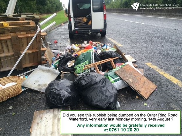 Illegal dumping on Outer Ring Road