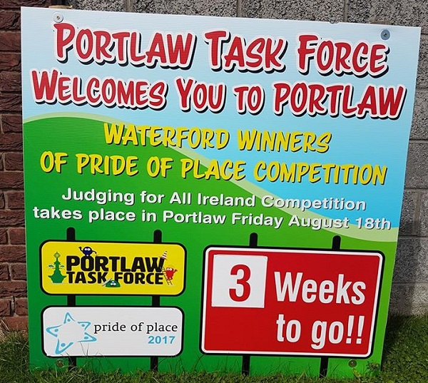 Portlaw representing Waterford in National Pride of Place Awards