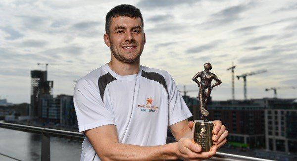 Jamie Barron wins PWC GAA GPA player of the month award for August.