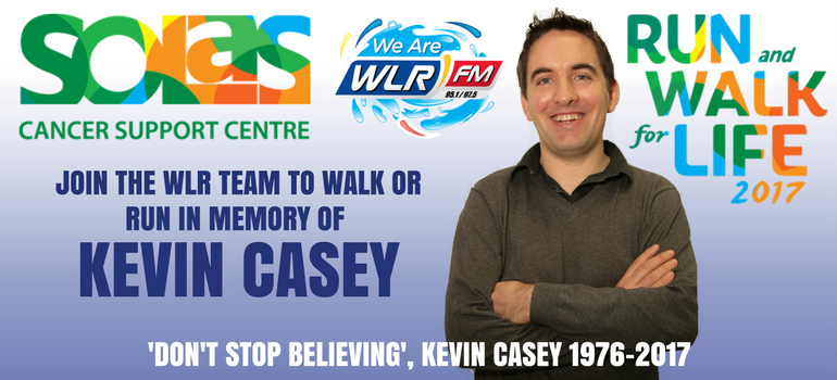 Run for Kevin in the Solas Cancer Support Centre Run and Walk for Life