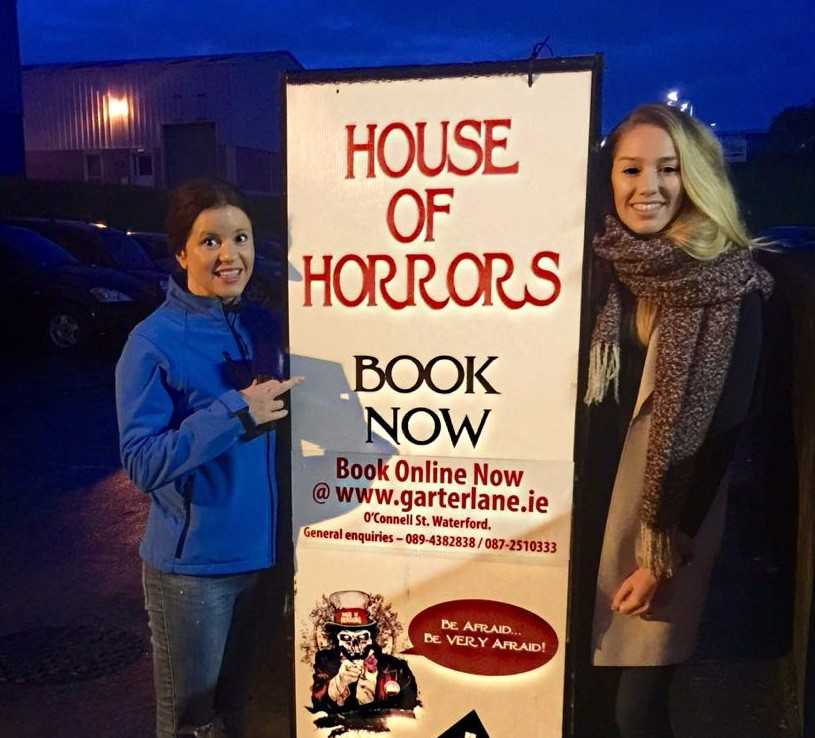 Teresanne and Mary had some Hallowe'en scares at The House of Horrors!