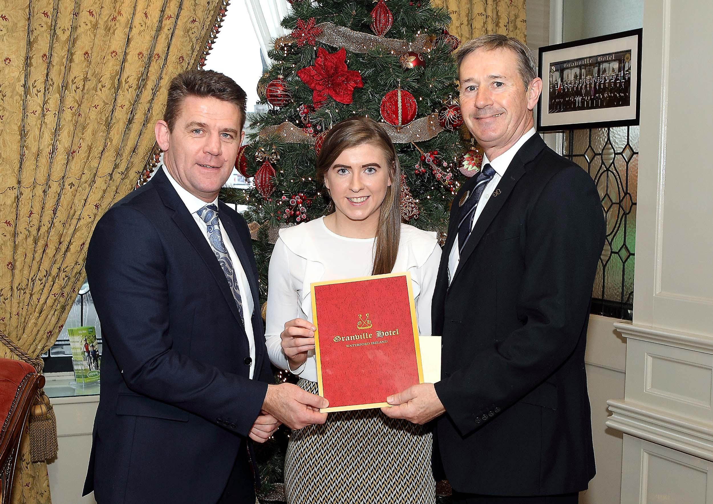 Lismore camogie star Caithriona McGlone wins November WLR Granville Hotel GAA award.
