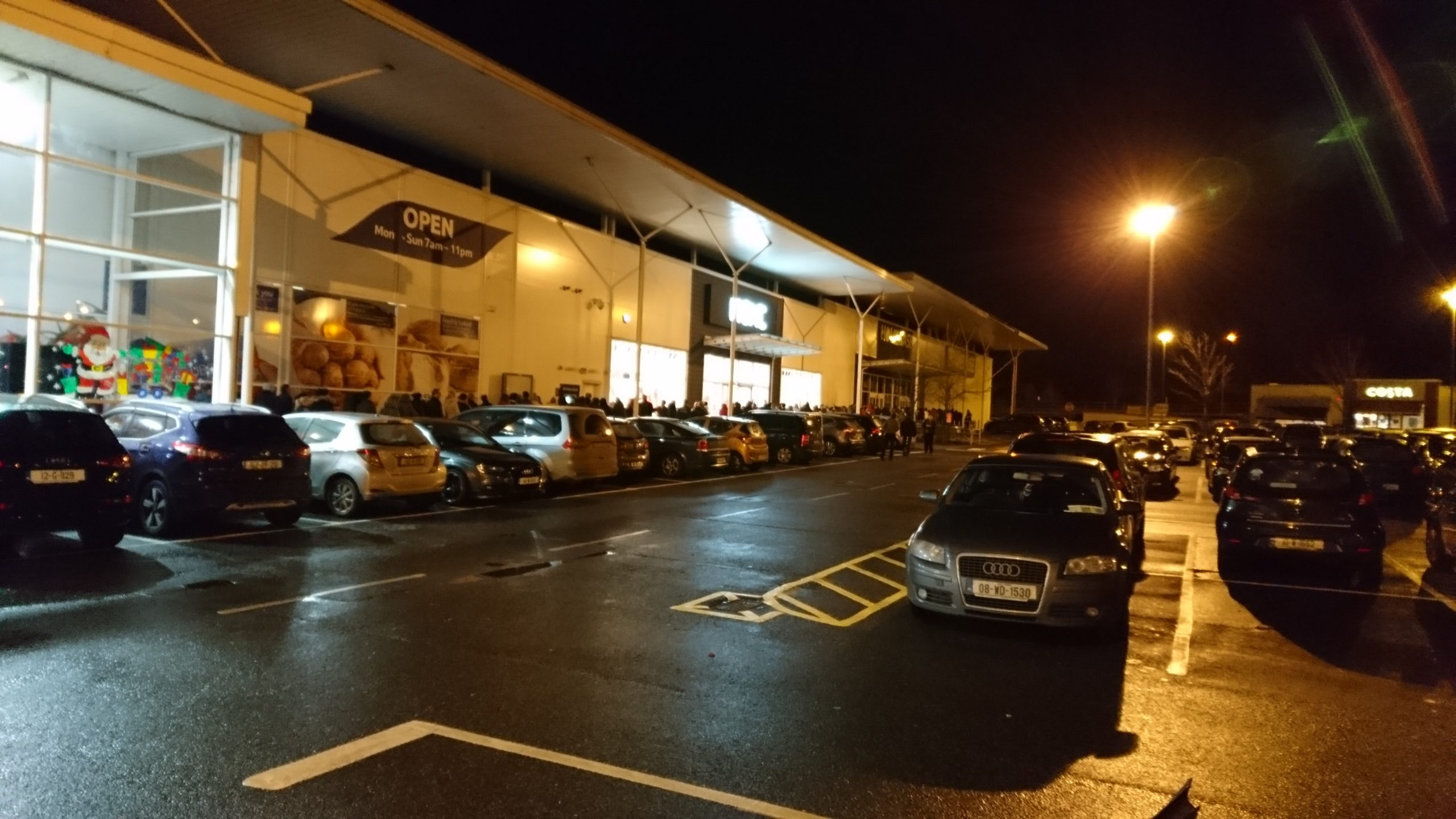 Waterford people queue in the early hours of the morning for Next Sale.