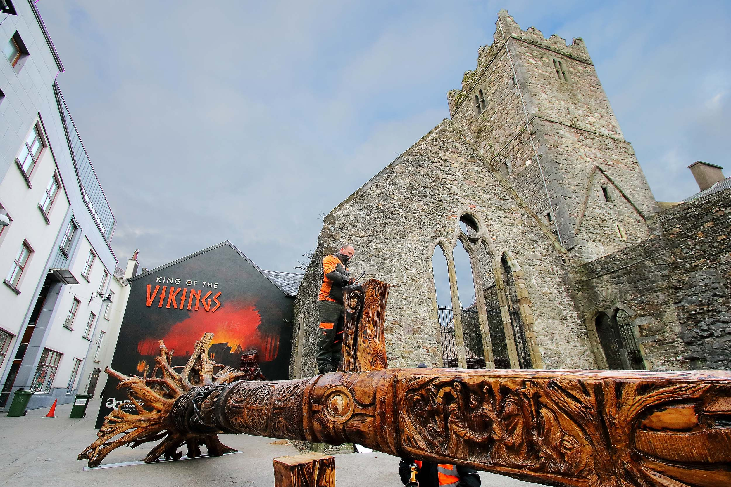 The New Wooden Sword Sculpture In Waterford City Is Now In
