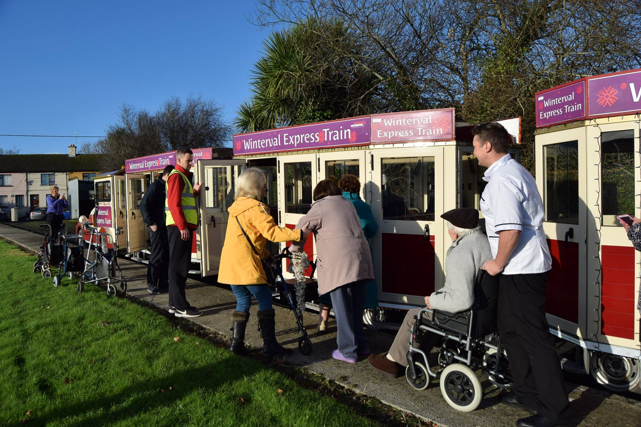 Waterford nursing home residents get Winterval Express tour