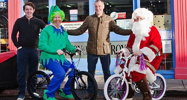 'Cycle with Santa' on the Waterford Greenway this afternoon