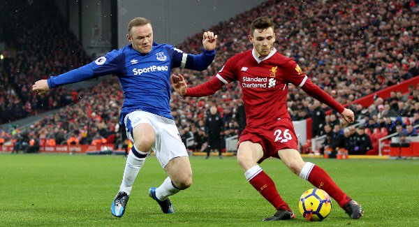 Rooney's first Merseyside derby goal earns Everton a draw at Anfield