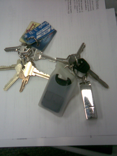 Lost: A set of keys