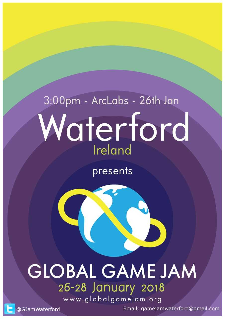 "You're invited to take part in ""Global Game Jam"" in Waterford this weekend."