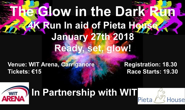 Glow in the Dark run to be held in aid of Pieta House