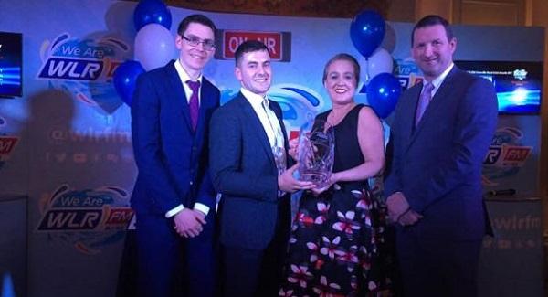 Jamie Barron named overall winner of the WLR Granville Hotel GAA awards 2017.