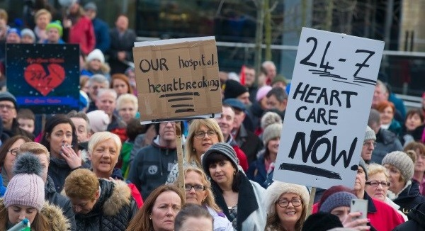 Protest march over cardiac services at UHW to take place in early February
