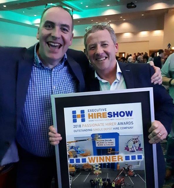 Clem Jacob Hire wins industry award; a first for an Irish company