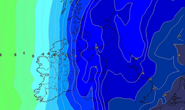 Disruptive snow showers forecast for the East and South East