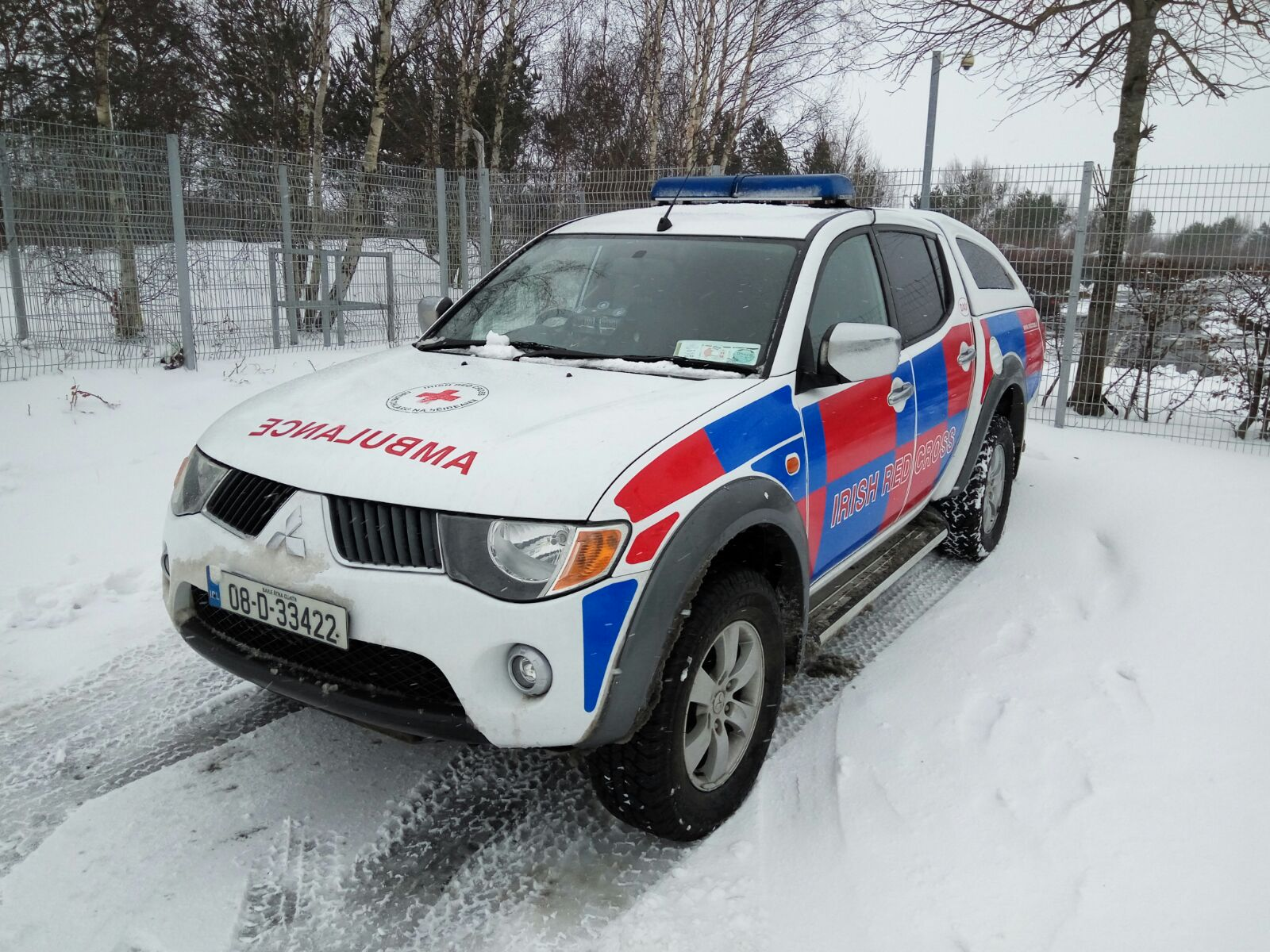 Six Irish Red Cross vehicles working in Waterford and Wexford