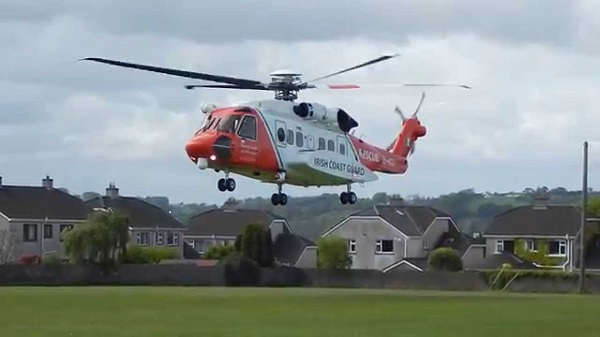 Waterford's Rescue 117 airlifts angler from cliffs