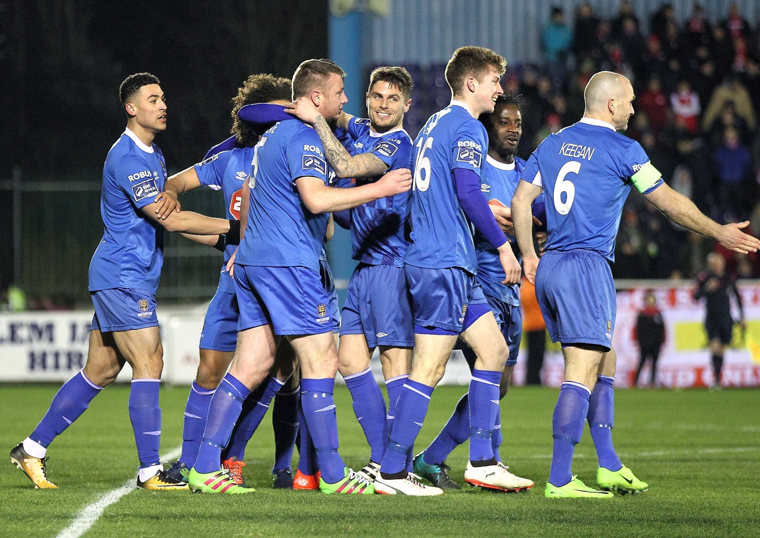 Waterford FC face Sligo Rovers this evening