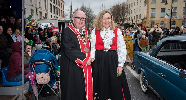 Norwegian Ambassador 'honoured' to be named Grand Marshall of Waterford City parade