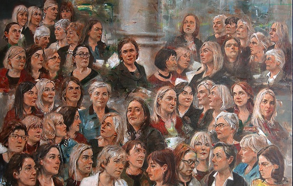 Portrait unveiled of female TDs and Senators