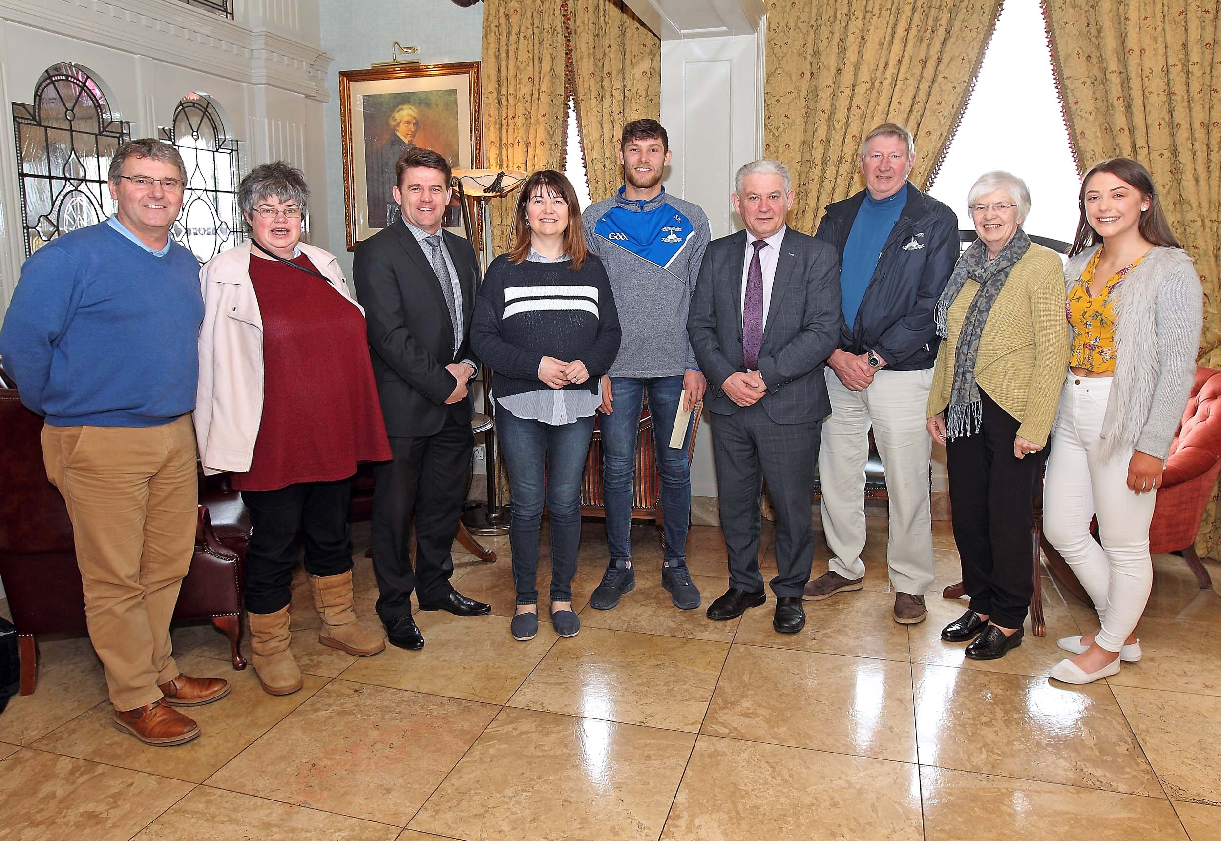 Seamus Keating is the first monthly winner of the WLR Granville Hotel GAA Award