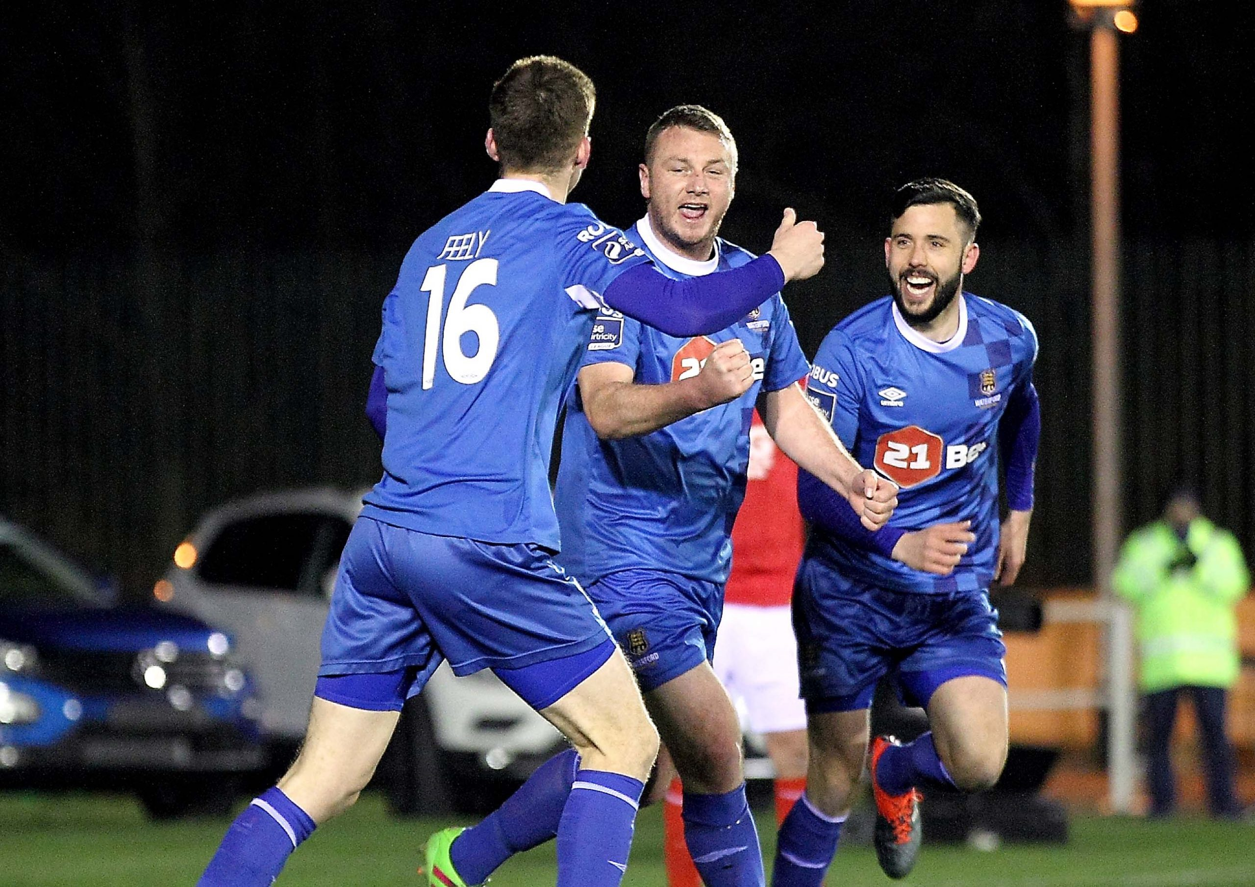 Waterford FC lose one nil to St Patrick's Athletic.