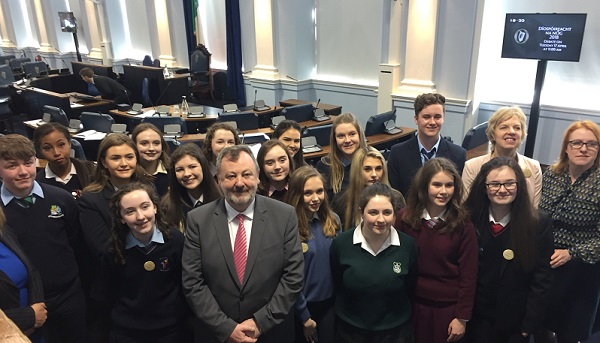 Waterford students highlight gender inequality in the Seanad