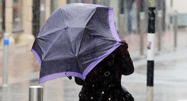 Two weather warnings for heavy rain and gusts of up to 110km/h in place for today