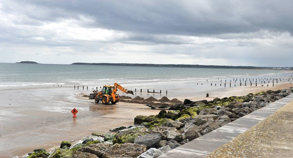 Concerns Youghal's Front Strand could be blown away.