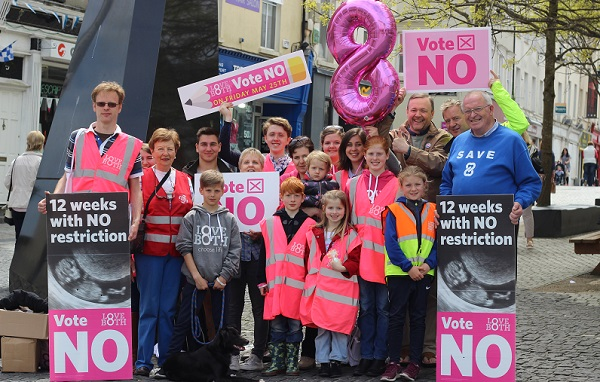 "The LoveBoth ""Vote No"" Tour visits Waterford."
