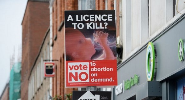 Gardai arrest two people in Waterford over the display of graphic anti-abortion posters