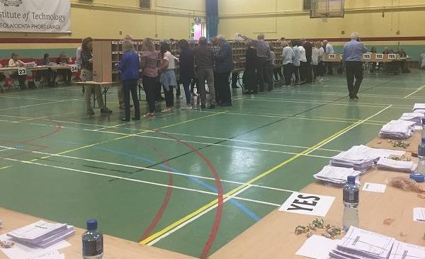 Waterford YES campaigners already celebrating what's being considered a landslide victory