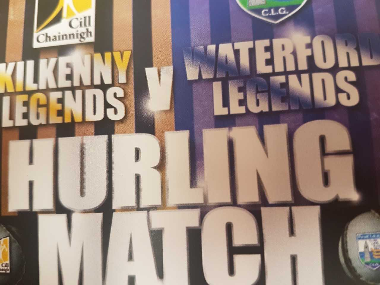 Charity hurling game between Waterford and Kilkenny legends takes place in Kilmacow this evening