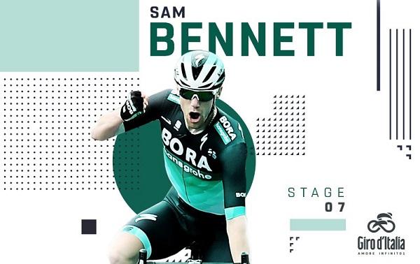 Sam Bennett wins Stage 7 of Giro