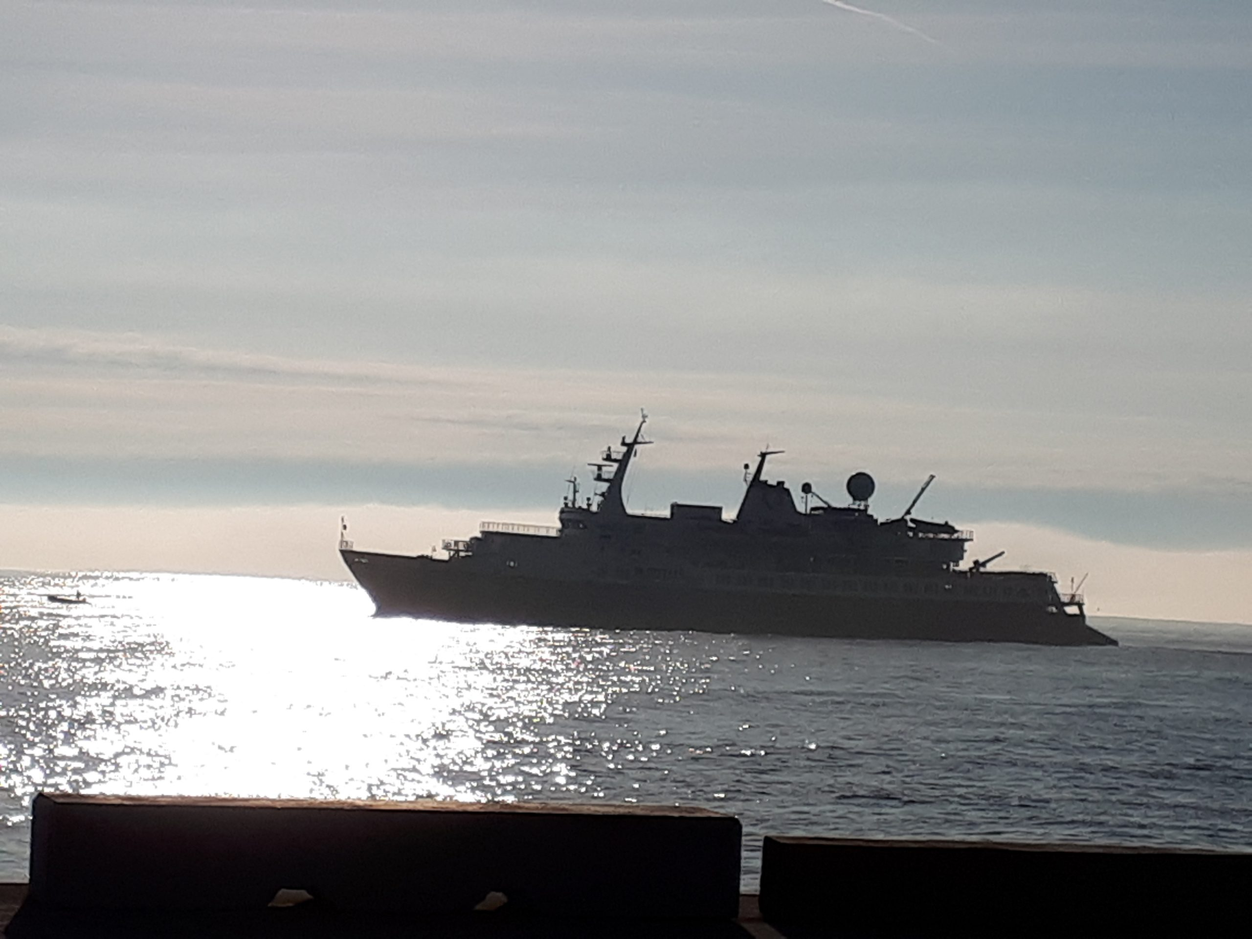 Cruise ship docks in Dunmore East.