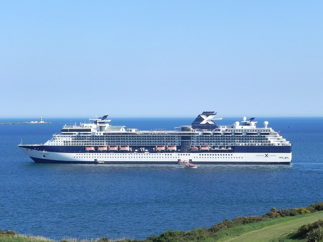 Cruise ship twice the length of Croke Park visits Waterford