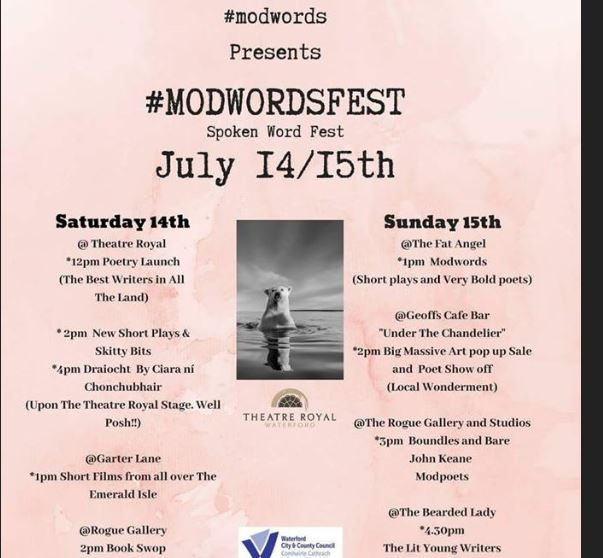 """Listen back: #Modwordsfest2018 is jam-packed with free events in Waterford City, Mary hears """"On the Fringe."""""""
