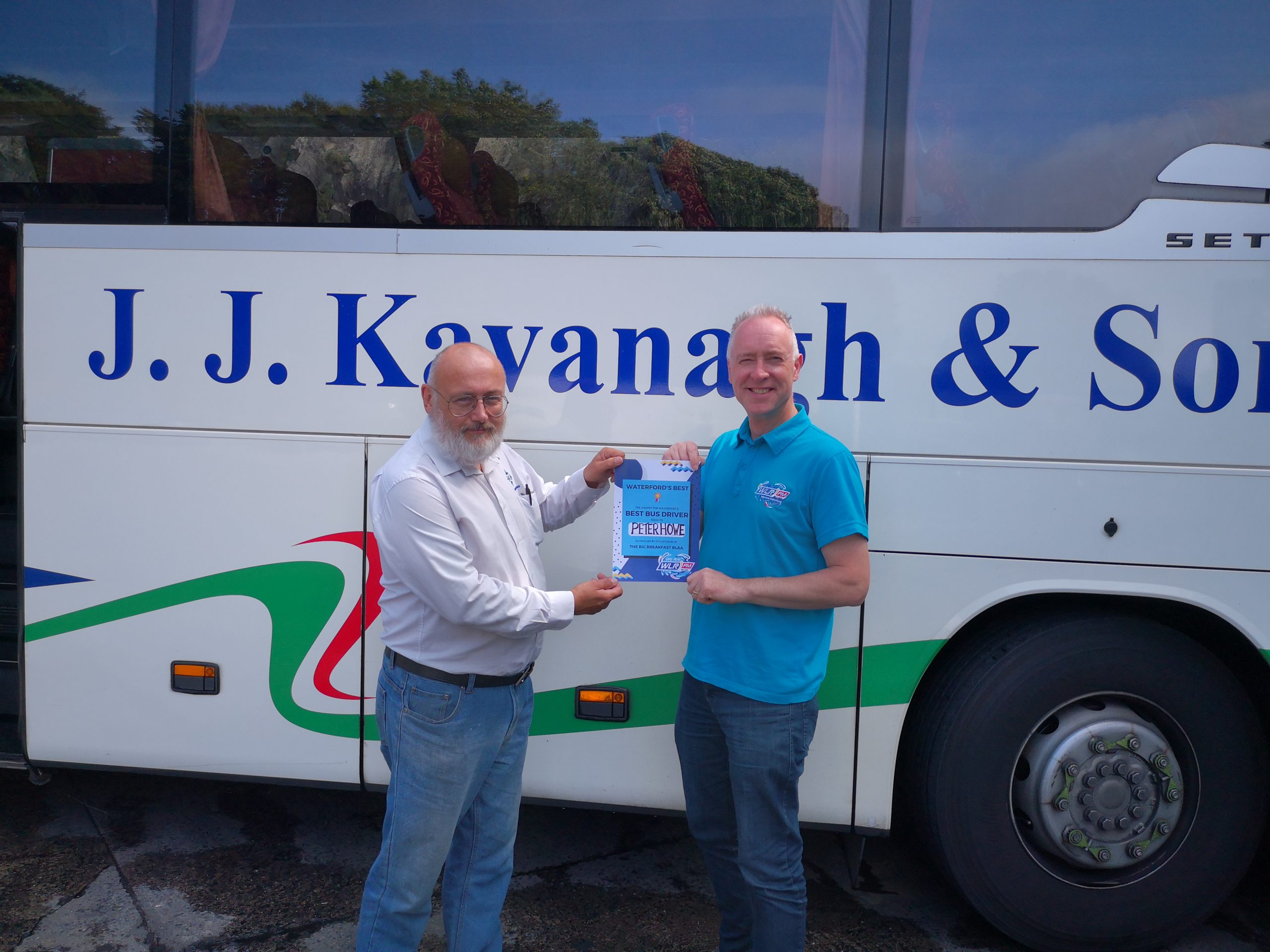"""WLR listener vote sees Peter Howe take the title of Waterford's  """"Best Bus Driver"""""""