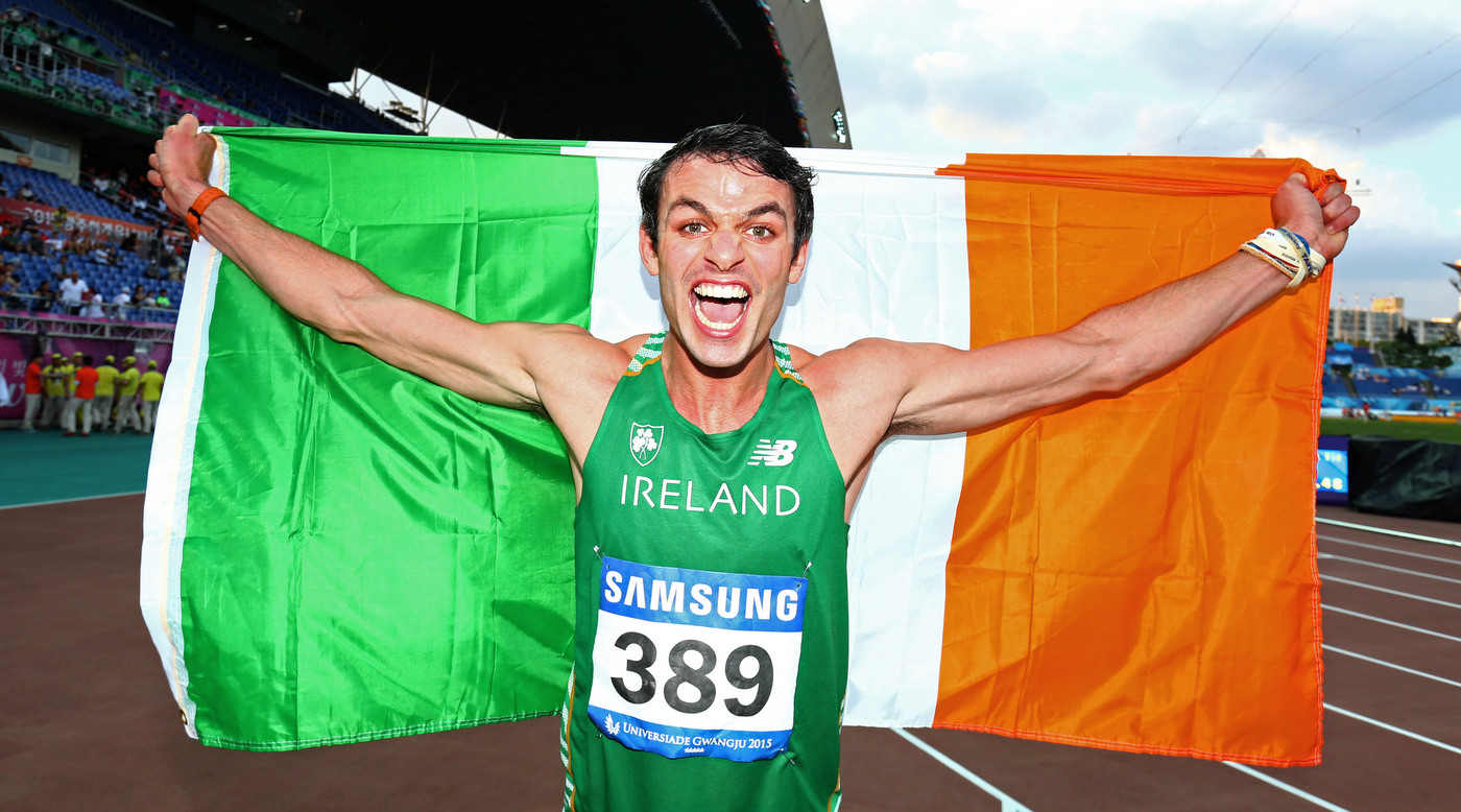 Thomas Barr in action this evening in European Championship Final