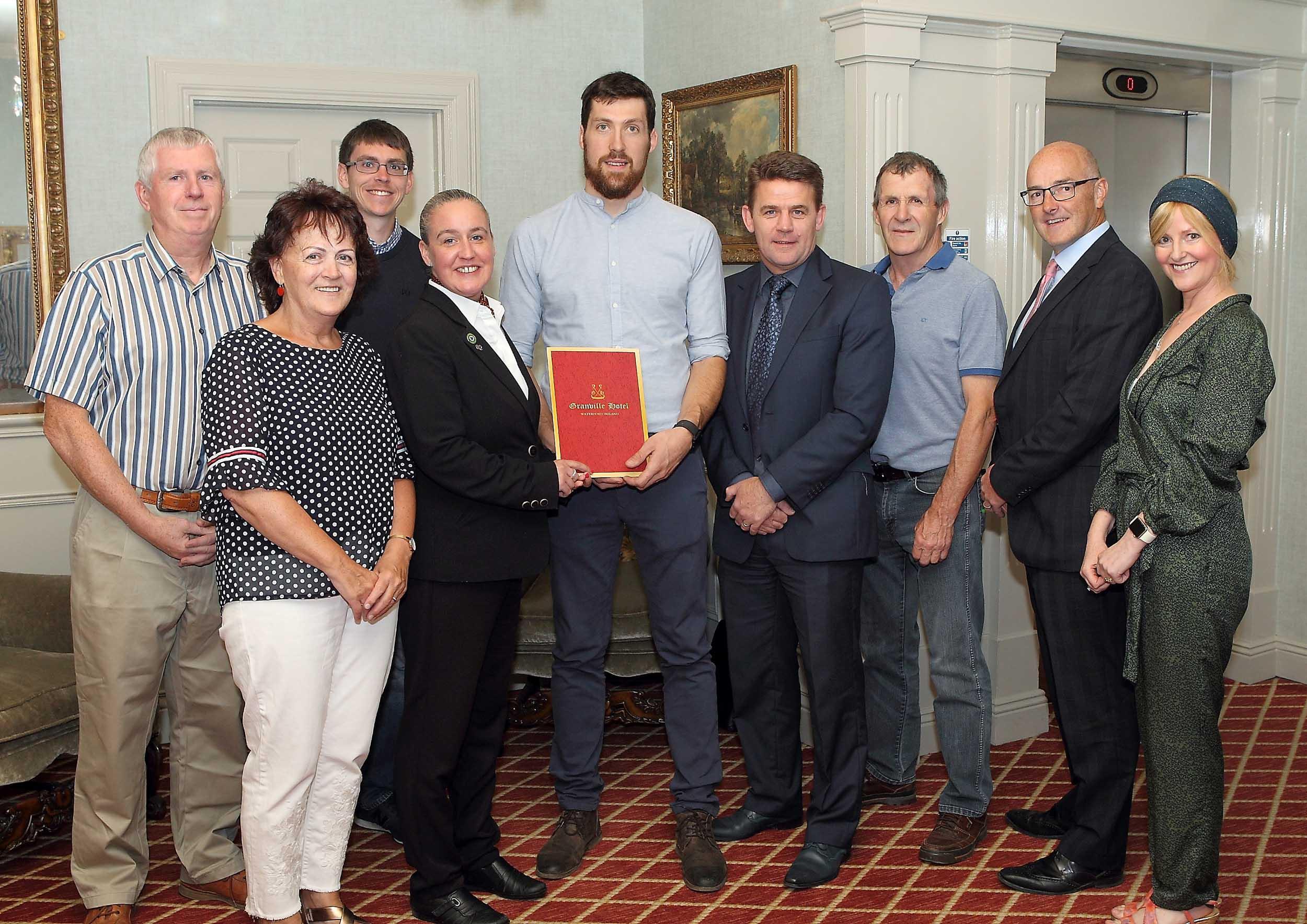 Tommy Prendergast  is the June winner of the WLR Granville Hotel GAA Award