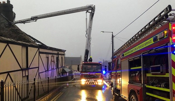 Firefighters tackle large blaze in derelict hotel in Tramore