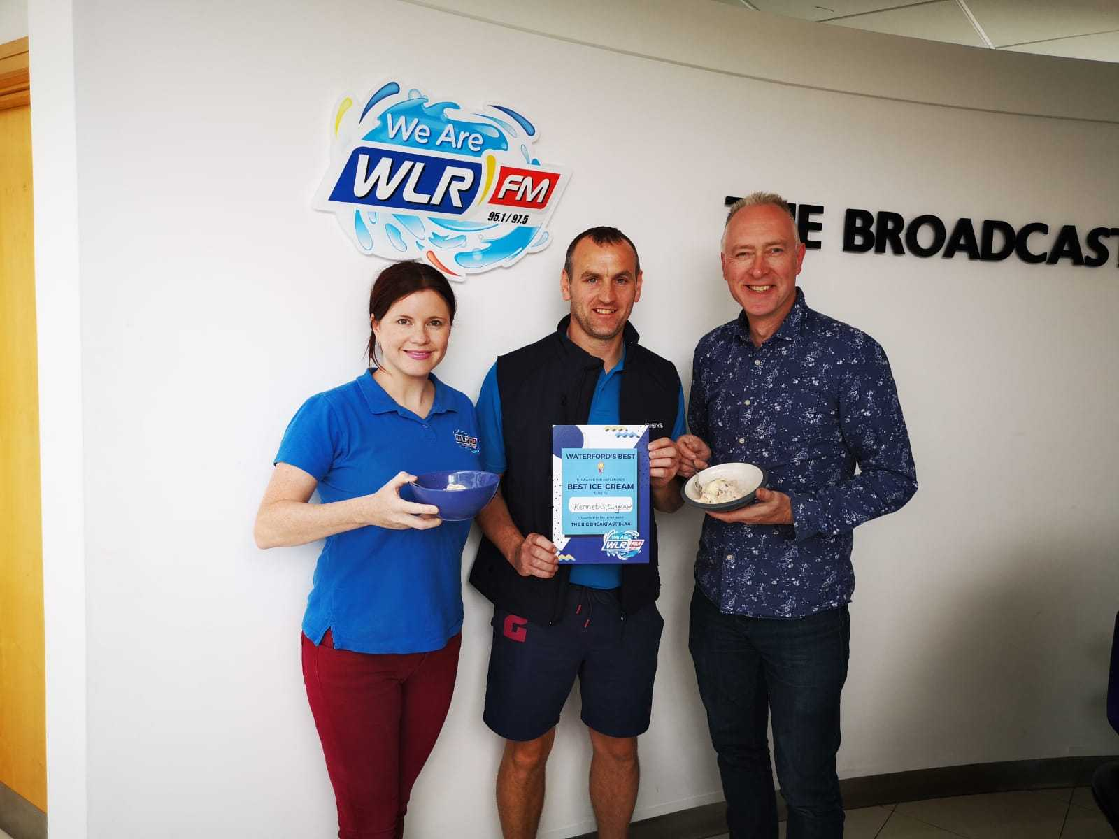 Kenneth's in Dungarvan voted best place in Waterford to get an icecream by Big Breakfast Blaa listeners