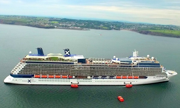 Cruise ship docks off Dunmore East
