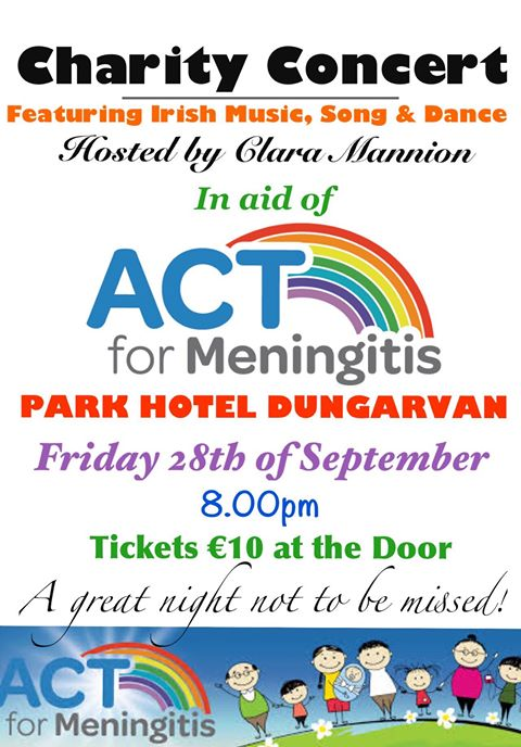 A Charity Concert in aid of ACT for Meningitis - Friday September 28th