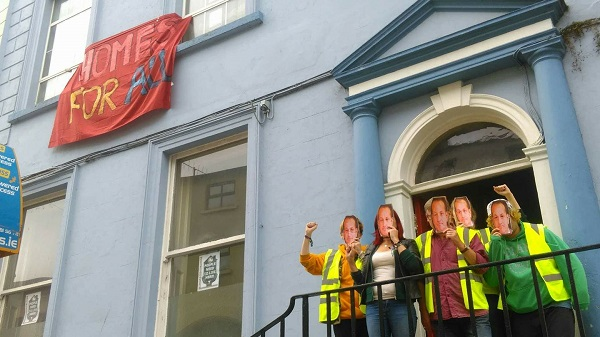 Activists occupy vacant building in Waterford